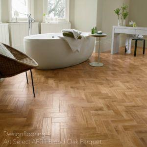 podłogi-do-łazienki-panele-winylowe-DesignflooringArtSelectAP01BlondOakParquet
